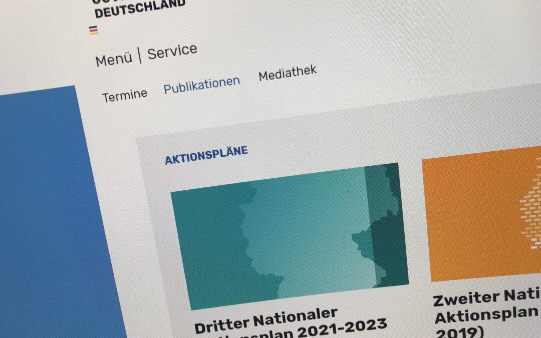 3. Nationaler Aktionsplan 2021-2023 veröffentlicht